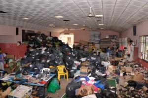 Todavía quedan donaciones en algunos centros de las localidades serranas.